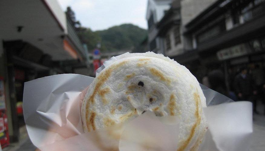 梅ヶ枝餅と松ケ枝餅と恵比寿餅